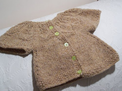 Preview This Free Knitting Pattern: Autumn Leaves Baby Sweater