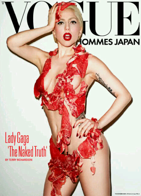 "Lady GaGa is the most buzz about in terms of her full raw meat ""costume"""