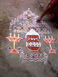 Complicated Design Kolam