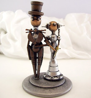steampunk bride and groom topper