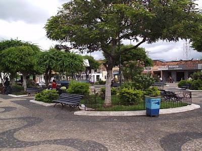 A praça central de Ipueiras - Por Bérgson Frota / Fortaleza