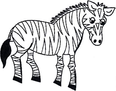 Dibujo de la cebra o zebra para colorear o pintar