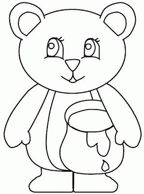 Gráfico del oso para colorear o pintar