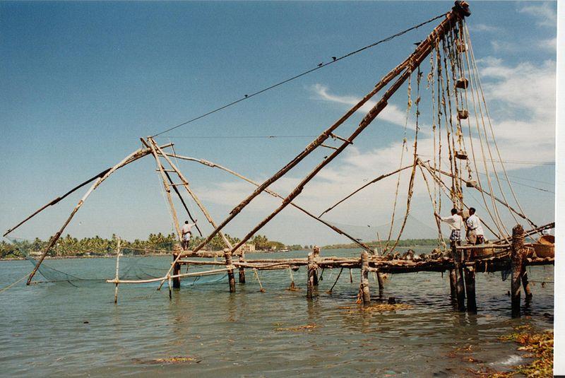 fishing net cartoon. The Chinese Fishing Nets at