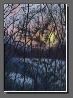 Silhouette Sky #47, Colored Pencil by Dee Overly