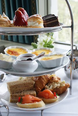 3+Tiered+plate+at+tea (New School) Afternoon Tea at the Banff Springs