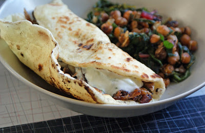 Lamb+Naan+Wraps Pulled Lamb with Garlicky Tzatziki and Naan