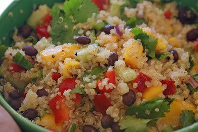 Quinoa+mango+salad Curried Quinoa Salad with Black Beans and Mango