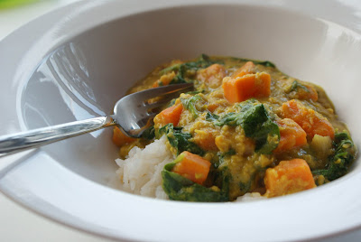 Lentil+sweet+potato+curry+2 Red Lentil & Sweet Potato Curry with Spinach