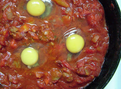 Eggs+Piperade+ +unbaked Day 223: Eggs in Pipérade with Chorizo Sausage