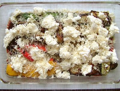 V+lasagna+ +ricotta+layer Day 238: Grilled Vegetable Lasagna