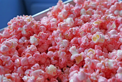 Pink+popcorn Green Pea Hummus and Pink Popcorn
