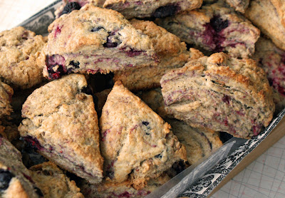 Whole+wheat+berry+scones Whole Wheat & Olive Oil Berry Biscuits