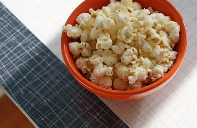 Peppered+Parmesan+Popcorn Peppered Popcorn with Parmesan