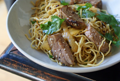 Fried+noodles+%26+pork Sesame Noodles with Pork