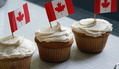 Canada+Day+Cupcakes+ +3 Multigrain Bread with Cherry Bourbon Butter and Maple Canada Day Cupcakes