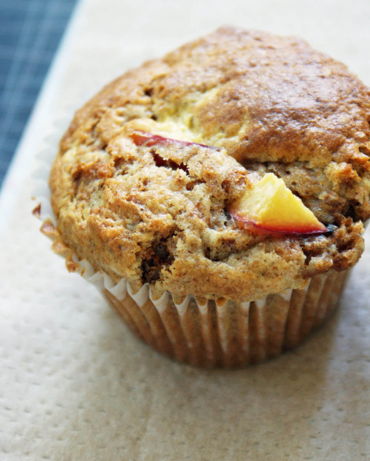 Peach Bran Muffins - Dinner With Julie Dinner With Julie Fresh Peach ...