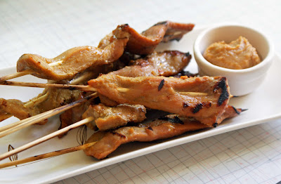 Maple+Leaf+pork+satay Pork Satay with Almond Butter Sauce