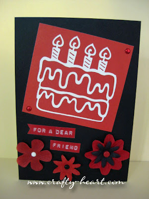 Black and Red Birthday Card