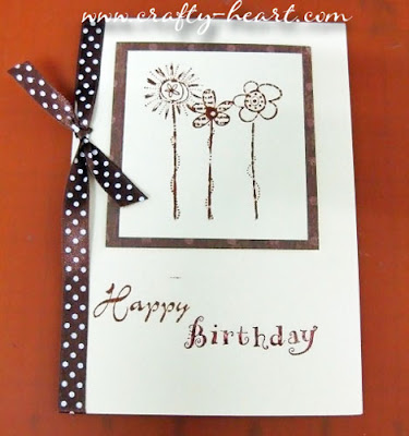 Birthday card in Brown