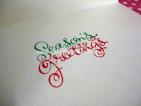 Christmas Cards in Red & Green