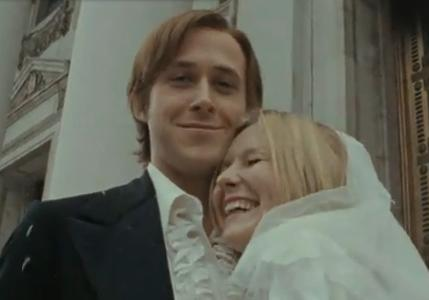Ryan Gosling as David Marks and Kirsten Dunst as Katie McCarthy on All