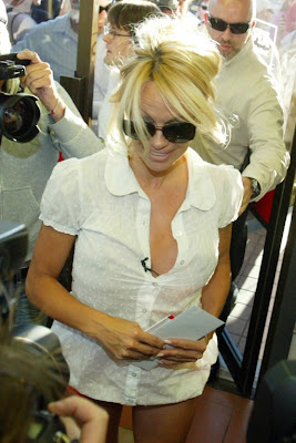 Pamela Anderson Cameltoe Reveals Well-Used Pussy Lips and See-Thru Nipples