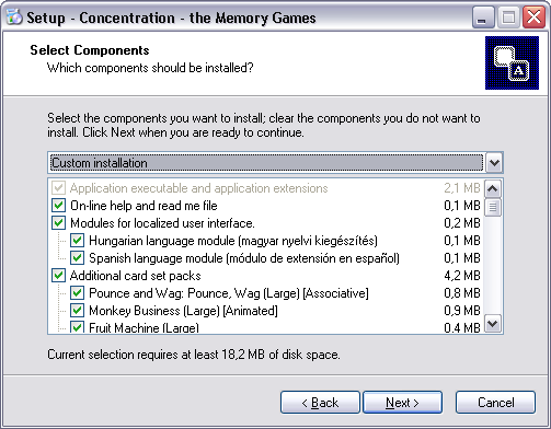 New Installer in Concentration - the Memory Games 5.0