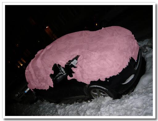 Rosa snö, mönster Satin