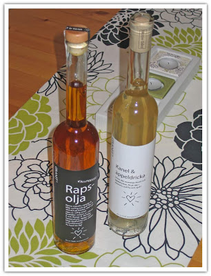 Fina flaskor, olja o dricka