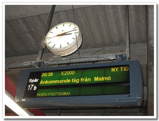 Försenat tåg!