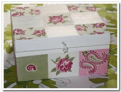 Decoupage på låda
