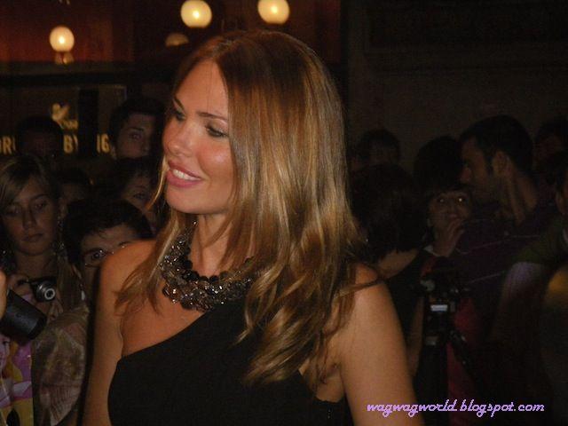 Francesco Totti's wife Ilary Blasi Hosts Vogue Fashion Night Out at the Swarovski boutique.
