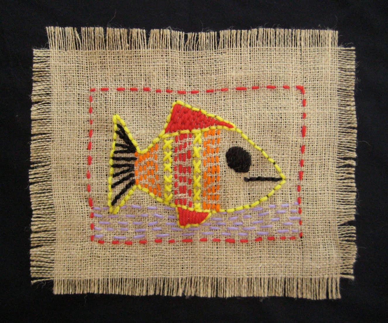 Burlap quot sampler stitching project teachkidsart