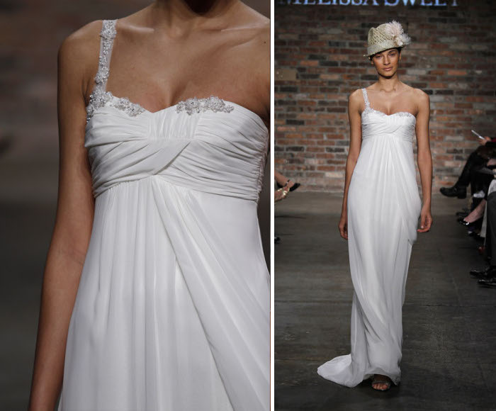 Short Wedding Dresses 5 Spaghetti Straps and Crepe de Chine Malta gown boho