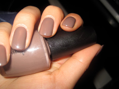 opi over the taupe nail polish