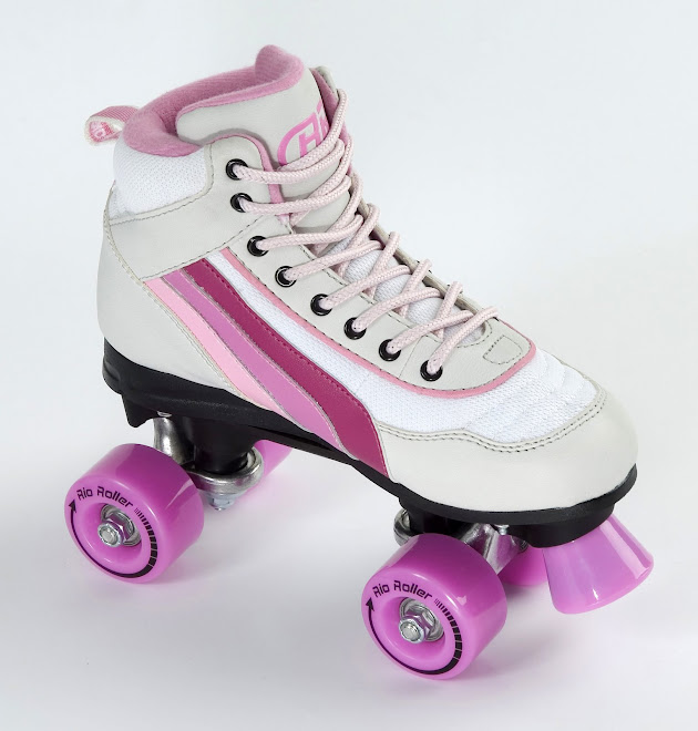 Rio Rollers Pink & White Quad Roller Disco Skates