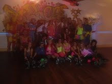 Roller Disco party group photo
