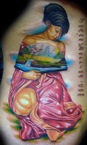 geisha tattoo designs. geisha tattoo design beuty