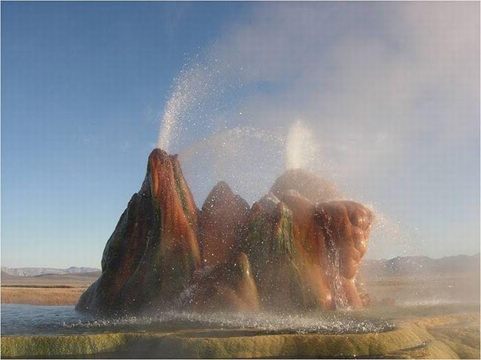 Невада,красивый гейзер,гейзер в Неваде,США