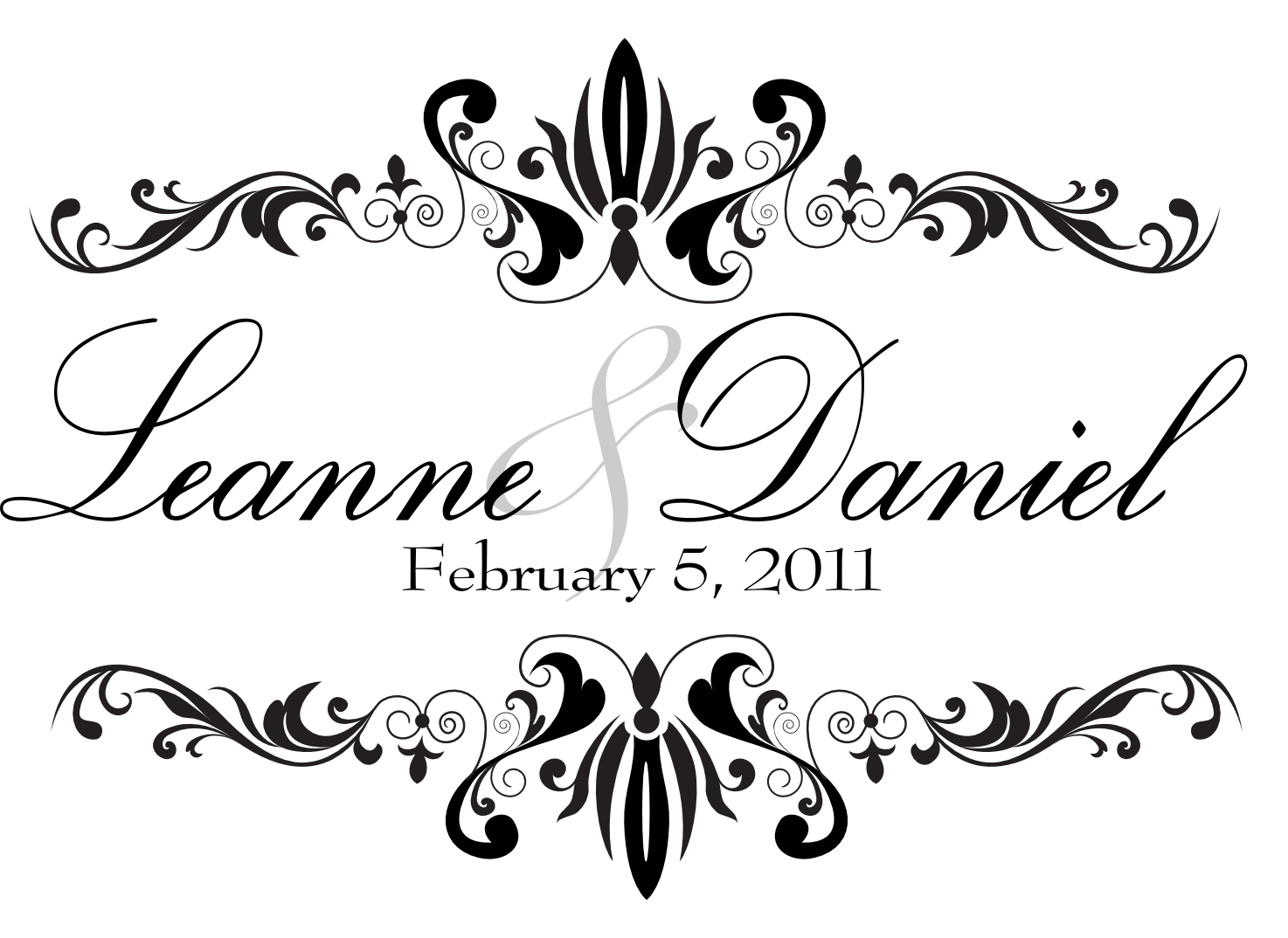 wedding monograms for leanne