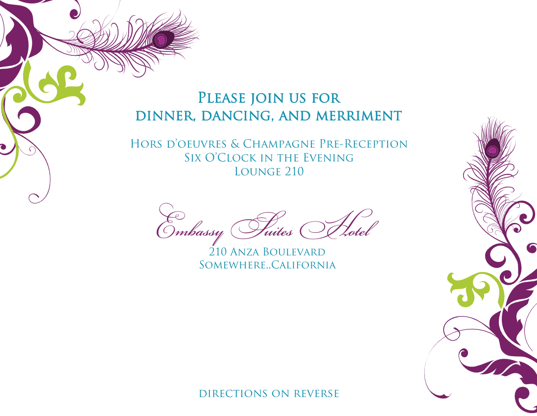 engagement card template