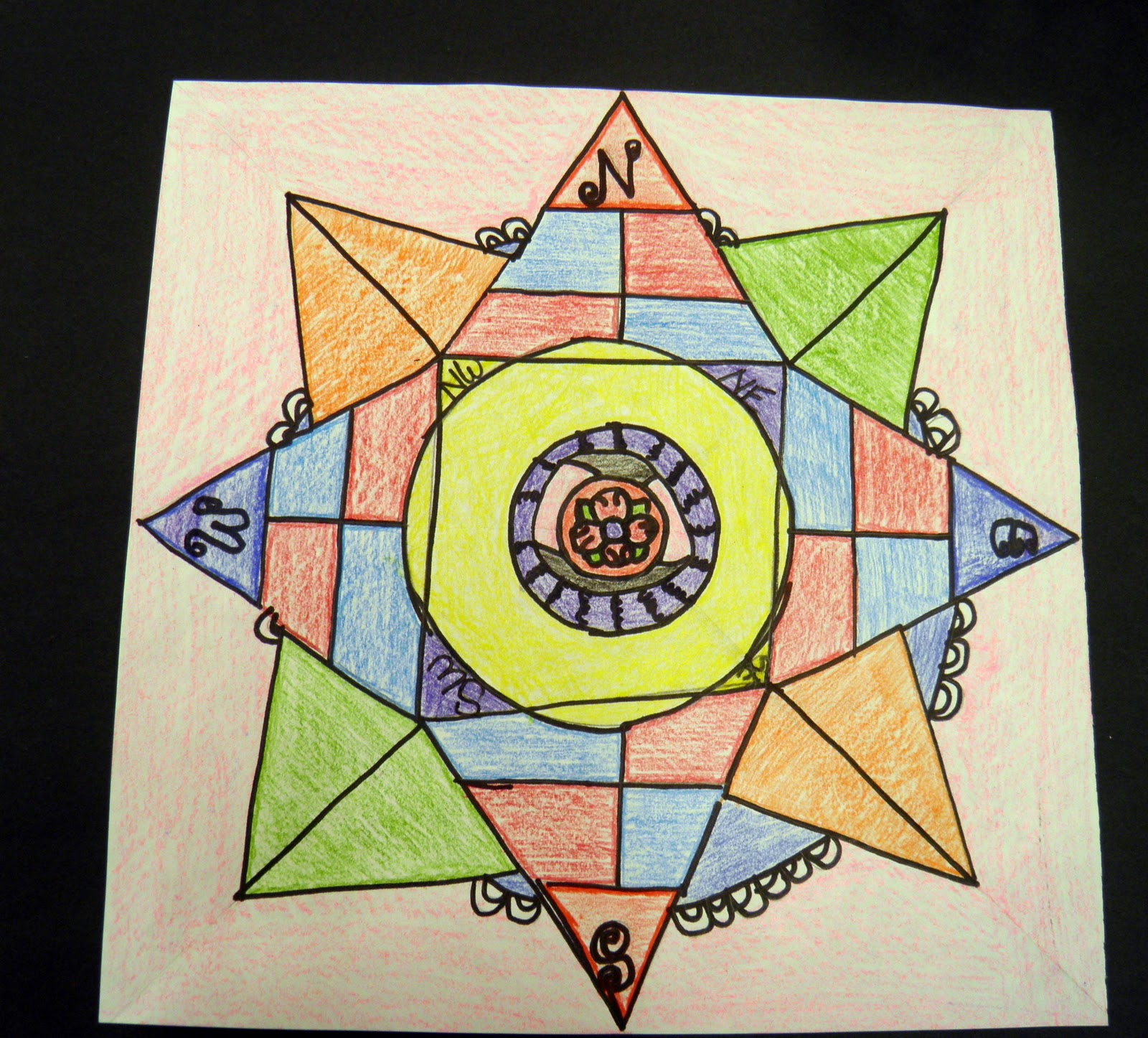 Compass template for children