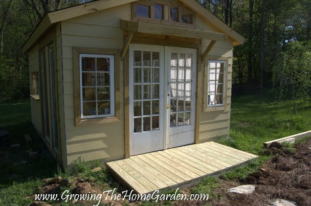 Garden shed with a front porch from the garden shed from for Shed designs with porch