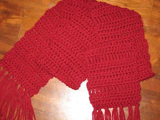 Single Stitch Crochet Scarf