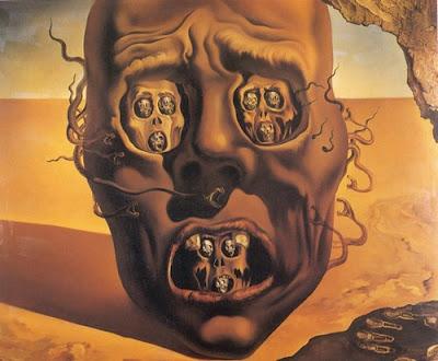 'El rostro de la guerra' Salvador Dalí, 1940