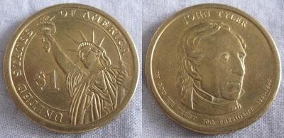 usa presidential dollar 10 john tyler