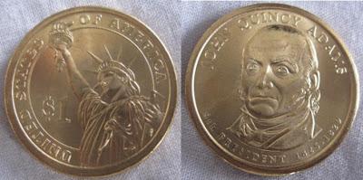 usa presidential dollar 6 john quincy adams
