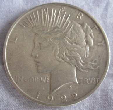 usa peace dollar 1922