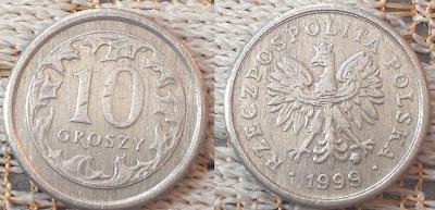 poland 10 groszy 1999